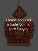 Red and Gold Crown with England DS Places
