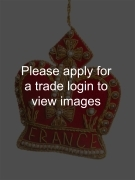 Red / Gold Crown with France Places