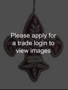 Purple and Silver Fleur de Lis DS Places