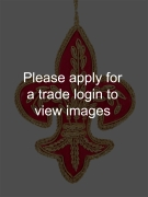 Red and Gold Fleur de Lis DS Places