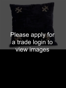 Navy Velvet Cushion with Silver Emb 40 x 40cm Places