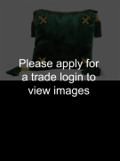 Green Velvet Cushion with Tassels 40 x 40cm. Places