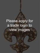Cream Fleur de Lis with Orange Beads SS Places