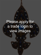 Navy Fleur de Lis with Blue Gem SS Places