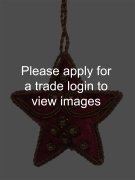 Mini Maroon Velvet Star with Beads SS TRADITIONAL