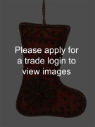 Red Brocade Boot with Beads and Flower SS TRADITIONAL
