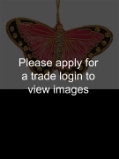Pink Satin Butterfly with Sequins SS NATURE