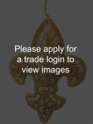Gold Tissue Fleur de Lis with Diamantes SS Places