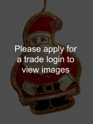 Gold Father Christmas FIGURE