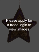 Antique Gold Velvet Star with Purple Border S TRADITIONAL