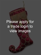 Jester Stocking with Beads 21in. TRADITIONAL